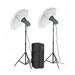 Набор импульсного света VL-300P c зонтами в сумке на колесах