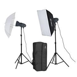 Набор импульсного света VL-300P c софтбоксом и зонтом