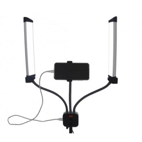 Двойная LED лампа для визажиста