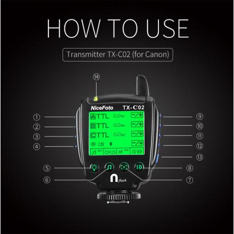 TX-C02 радиосинхронизатор для NiceFoto K8