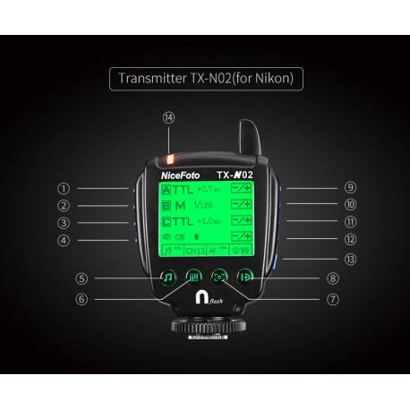 TX-N02 радиосинхронизатор для NiceFoto K8