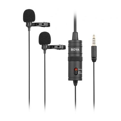 Двойной петличный микрофон BY-M1DM