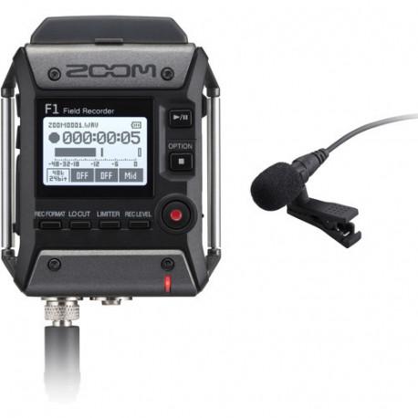 Полевой рекордер Zoom F1-LP + петличный микрофон
