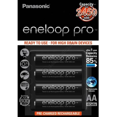 Аккумулятор PANASONIC Eneloop Pro AA  2500 mAh, 4 шт