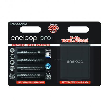 Аккумулятор Panasonic Eneloop Pro AA 2500мАч 4+Case BK-3HCDEC4BE