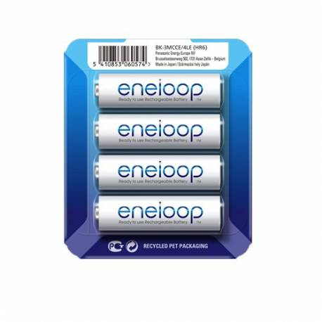 Аккумуляторы PANASONIC Eneloop AA 1900 mAh, 4 шт BK-3MCCE/4LE