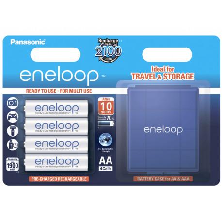 Аккумуляторы PANASONIC Eneloop AA 1900mAh, 4шт с кейсом