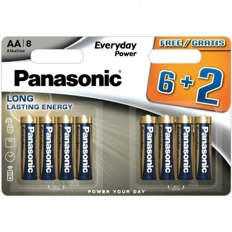 Батарейки Panasonic AA щелочные Everyday Power 8шт