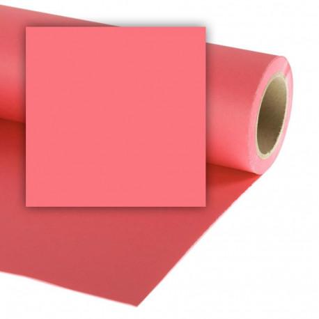 Бумажный фон Colorama 2,72x11м, цвет Coral Pink