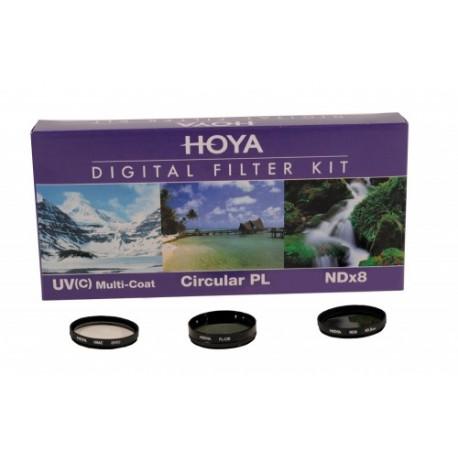 Набор фильтров Hoya 77мм (UV, PL CIR, NDX8)