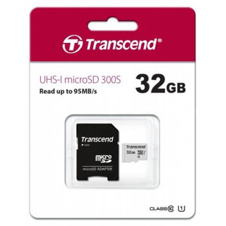Карта памяти 32Gb Transcend, Class 10 UHS-I U1 TS32GUSD300S-A