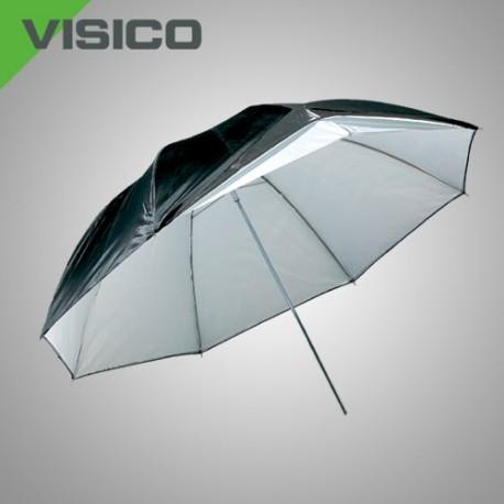 Зонт серебро/черный  и прозрачный